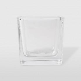 Porta Candela Cubo di Vetro - 6 x 6 x 6 cm