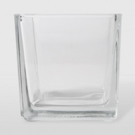 Porta Candela Cubo di Vetro - 8 x 8 x 8 cm